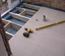 How to replace a suspended floor with concrete the self for Suspended concrete floor