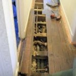 Installing Pipework and Wiring Under Floors