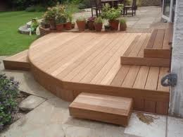 Garden Decking Ideas Angled Deck with Access Panels